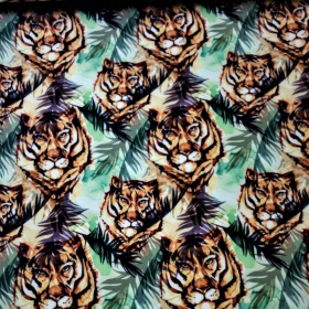 Softshell tigre en la selva verde