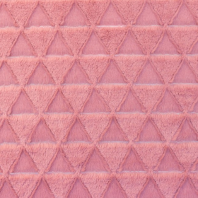 piel sintética con pelo triángulo viejo rosa