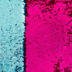 lentejuela reversible fushia y azul