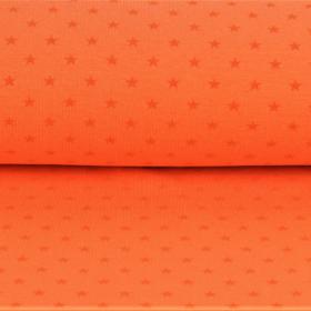 Puño estampado estrellas naranja fondo naranja