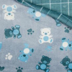 Polar doble cara ositos fondo azul