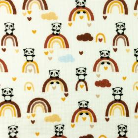 Double gaze panda arc en ciel moutarde