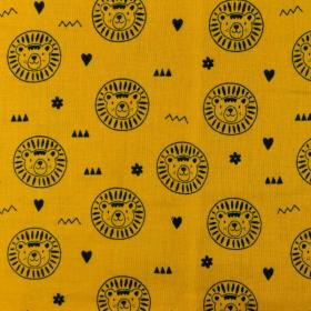 Double gaze lion moutarde