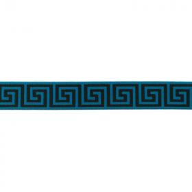 Goma Elástica patron griego azul