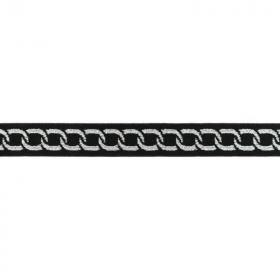 Goma Elástica cadena plateada fondo negro