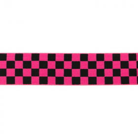 Goma Elástica tablero de dama negro y rosa