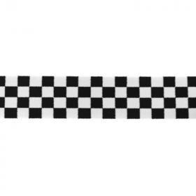 Goma Elástica tablero de damas negro y blanco
