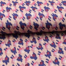 Jersey estampado interclok abstrait fondo rosa