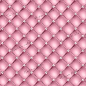 Panel cuero diamant rosa