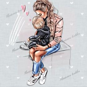 Panel impéméable Mom y su niño